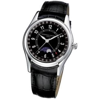 【CONSTANT 康斯登】月相自動機械腕錶/黑色錶帶(FC-330B6B6)