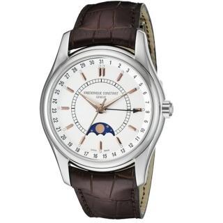 【CONSTANT 康斯登】月相自動機械腕錶/咖啡色錶帶(FC-330V6B6)
