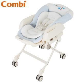 【Combi】Letto電動安撫餐椅搖床 ST款(藍色巴黎)