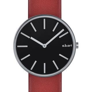 【a.b.art】DL系列 光影美學線性腕錶-黑/39mm(abart-DL202)