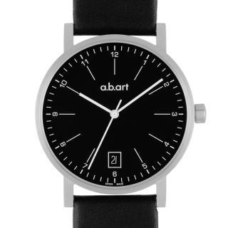 【a.b.art】O系列 包浩斯基本經典腕錶-黑/40.5mm(abart-O104)