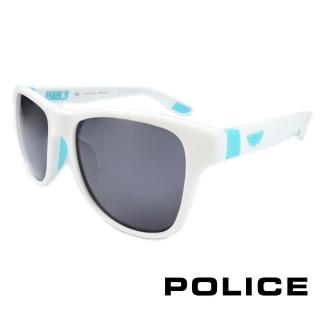 【POLICE】義大利警察都會款個性型男眼鏡-膠框(水藍色-POS1823-4A0V)