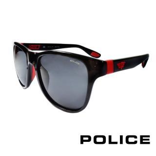 【POLICE】義大利警察都會款個性型男眼鏡-膠框(紅色-POS1823-Z42R)