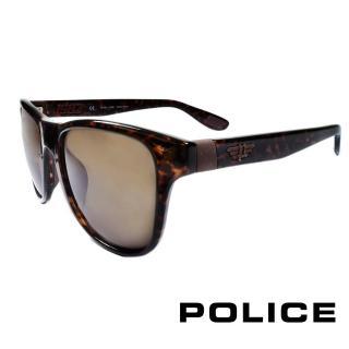 【POLICE】義大利警察都會款個性型男眼鏡-膠框(豹紋- POS1823-0978)