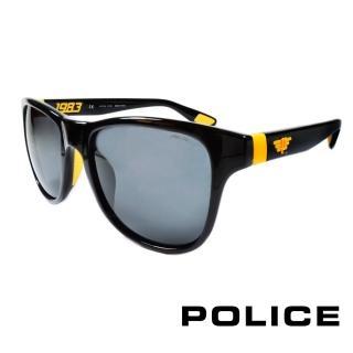 【POLICE】義大利警察都會款個性型男眼鏡-膠框(黃色-POS1823-Z42G)