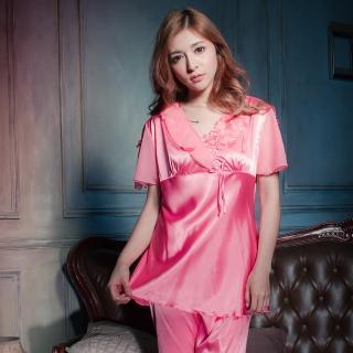 【Beauty's Secret】SK9018輕戀旋律冰絲衣褲組(粉)