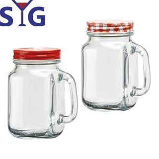 【SYG】吸管洞梅森杯玻璃罐500ml(二入組)