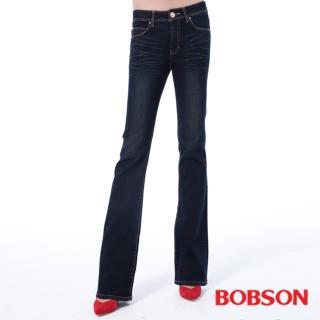 【BOBSON】女款保暖布小喇叭褲(9090-53)
