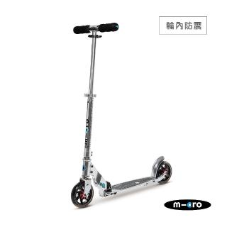 【瑞士第一 Micro】Speed+ 純銀色(極速避震-成人滑板車)