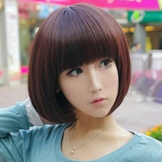 【米蘭精品】女假髮整頂假髮短假髮(可愛齊瀏海修臉流行美髮用品穿搭配件3色69o62)