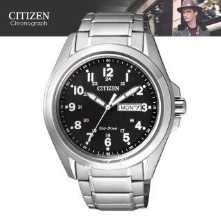【CITIZEN 日系星辰】復古錶款 光動能 日期顯示 不鏽鋼男錶(AW0050-58E)