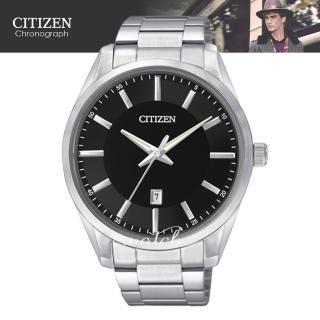 【CITIZEN 日系星辰】完美錶款 光動能 夜光銀邊時尚男錶(BI1030-53E)