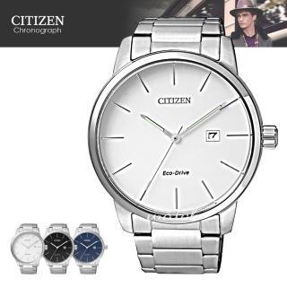 【CITIZEN 日系星辰】完美錶款 光動能 簡單俐落腕錶(BM6960-56A)