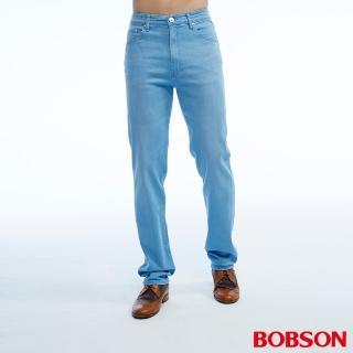 【BOBSON】男款高腰彈性直筒褲(1810-58)