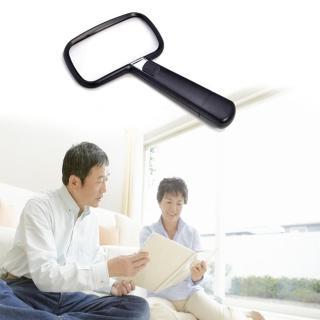 【樂齡網】Lelan 手持式附LED燈放大鏡