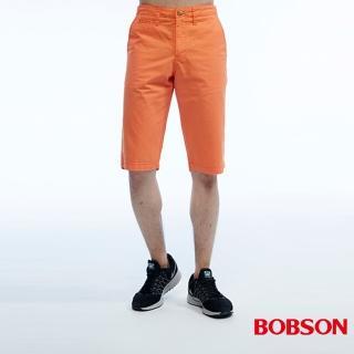 【BOBSON】男款短褲(橘200-21)