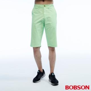 【BOBSON】男款短褲(綠200-40)