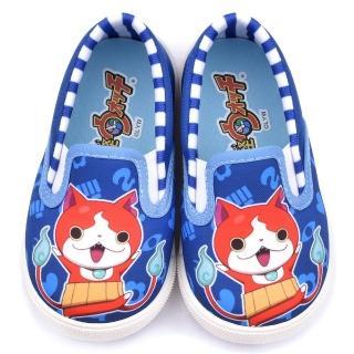 【童鞋城堡】妖怪手錶 中童 可愛懶人休閒鞋(YW8819-藍)