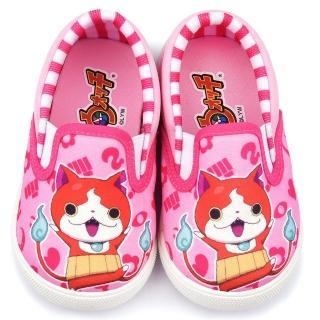 【童鞋城堡】妖怪手錶 中童 可愛懶人休閒鞋(YW8819-粉)