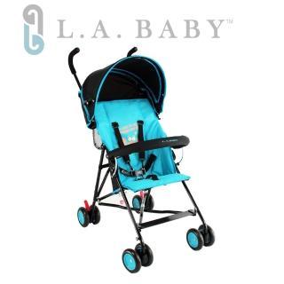 【美國 L.A. Baby】亮彩輕便嬰兒手推車(藍/綠/橘/粉/紅)