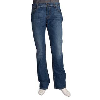 【MCQUEEN】復古刺繡 Q 圖騰牛仔褲(32-男Q00611T4843)