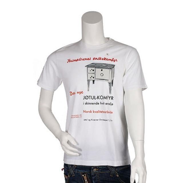 【UNIQLO】白色簡約圖騰 & 美式文字 短袖圓領T-shirt(HT-580 WHITE)