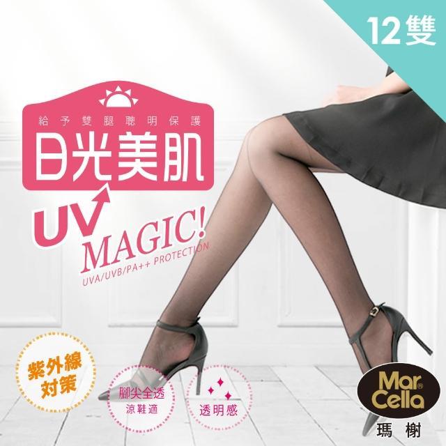 【瑪榭】抗UV魔幻日光美肌褲襪(12入組)