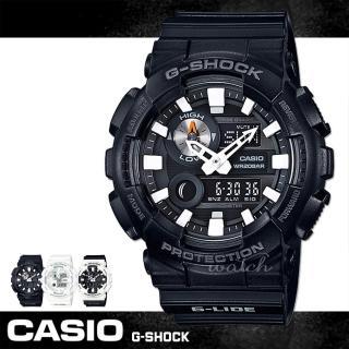 【CASIO 卡西歐 G-SHOCK 系列】新品上市 全黑時尚 運動雙顯男錶(GAX-100B)  CASIO 卡西歐