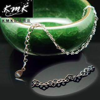 【KMK鈦鍺精品】心形細鍊(S925純銀-手鍊)