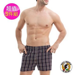 【BONTEX】賓漢格紋平口褲(三件組)