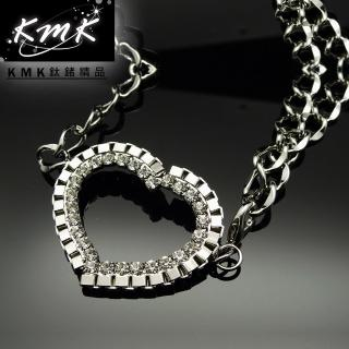 【KMK鈦鍺精品】《蜜糖心-心形》(多功能腰鍊、項鍊、配飾)