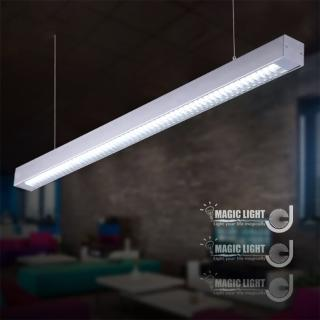 【光的魔法師 Magic Light】辦公照明燈具 現代簡約LED用辦公燈具(銀色格柵款)