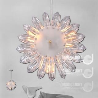 【光的魔法師 Magic Light】鸚鵡螺吊燈 三燈 簡約現代(晶透款)