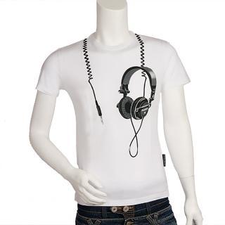 【Frankie】morello 耳機造型 T-shirt(白-S號-F7086314C-S)