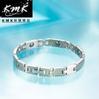 【KMK鈦鍺精品】簡約時尚(純鈦+磁鍺健康手鍊)
