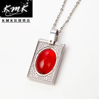 【KMK鈦鍺精品】玫瑰莊園(瑪瑙+純鈦+磁鍺健康墜鍊)