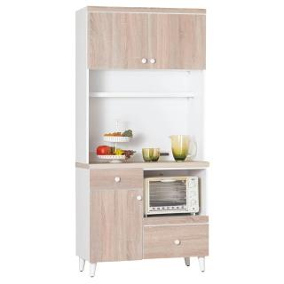 【顛覆設計】小北歐3尺餐櫃組(上+下座)