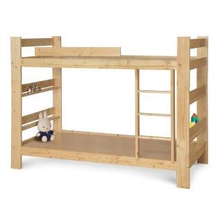 【顛覆設計】松木原木單人3.5尺雙層床