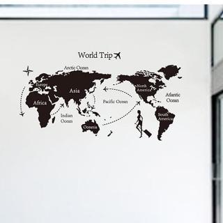 時尚壁貼(世界地圖)