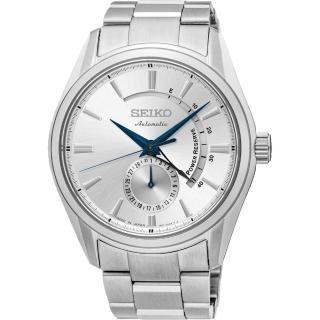 【SEIKO】PRESAGE 4R57 動力儲存機械腕錶-銀/42mm(4R57-00A0S  SSA303J1)
