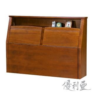 【優利亞-克莉絲淺胡桃色】加大6尺實木床頭箱