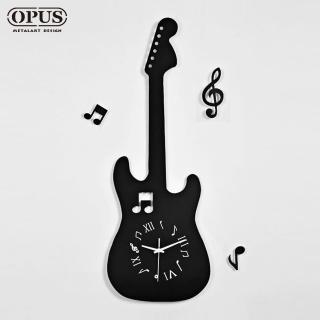 【OPUS 東齊金工】歐式鐵藝時鐘 / 靜音掛鐘 / 造型壁鐘(CD524電吉他)