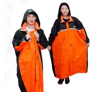 【天龍牌】競速型尼龍雨衣-黑/橘(12H)