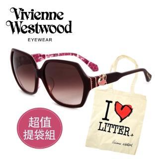 【Vivienne Westwood】英國精品時尚造型太陽眼鏡(VW78802-粉色)