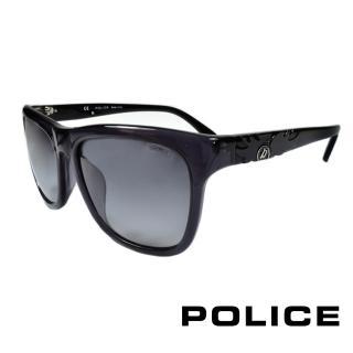 【POLICE】義大利警察都會款個性型男眼鏡膠框(灰黑 POS1895-0819)
