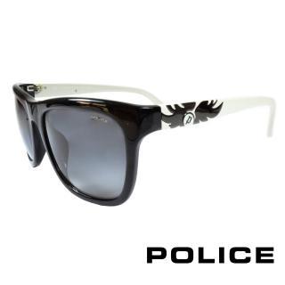 【POLICE】義大利警察都會款個性型男眼鏡膠框(白色 POS1895-0700)