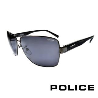 ~POLICE~義大利警察都會款 型男眼鏡~金屬框^(黑灰 POS8880~0568^)