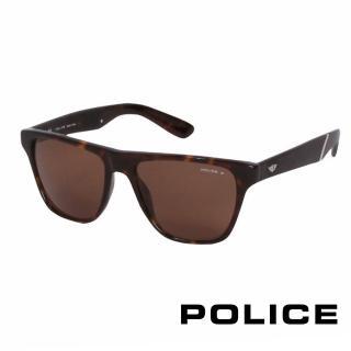 【POLICE】都會復古時尚太陽眼鏡(琥珀 POS1796-722Z)
