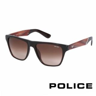 【POLICE】都會復古時尚太陽眼鏡(紅 POS1796-0958)