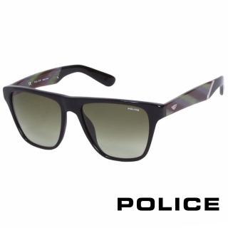 【POLICE】都會復古時尚太陽眼鏡(孔雀綠 POS1796-700V)